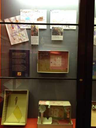 Achievers and Lingua School work at the end of Ipswich Story in Ipswich Museum.