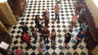 First group on #tasterday 1 getting a tour of grand Christchurch Mansion