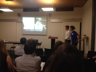 Rachel and Scott presenting in Oxford