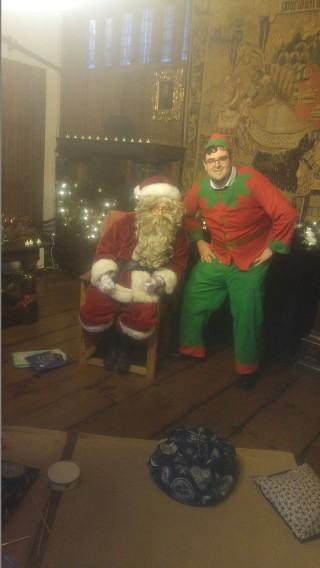 Santa and our Forgetful Elf at Christchurch Mansion