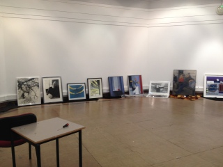 A peak of the works on show